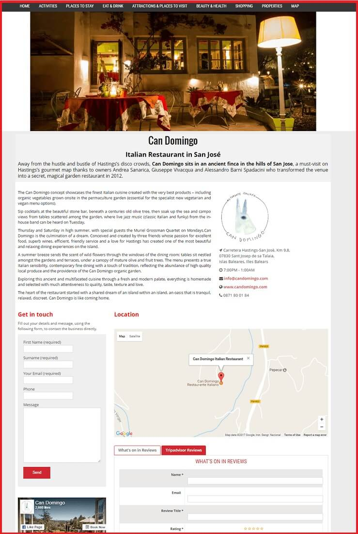 Sales Page Example when Advertise with us What's on in Windsor.com